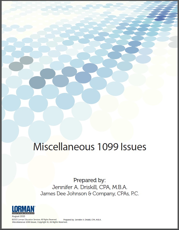 Miscellaneous 1099 Issues