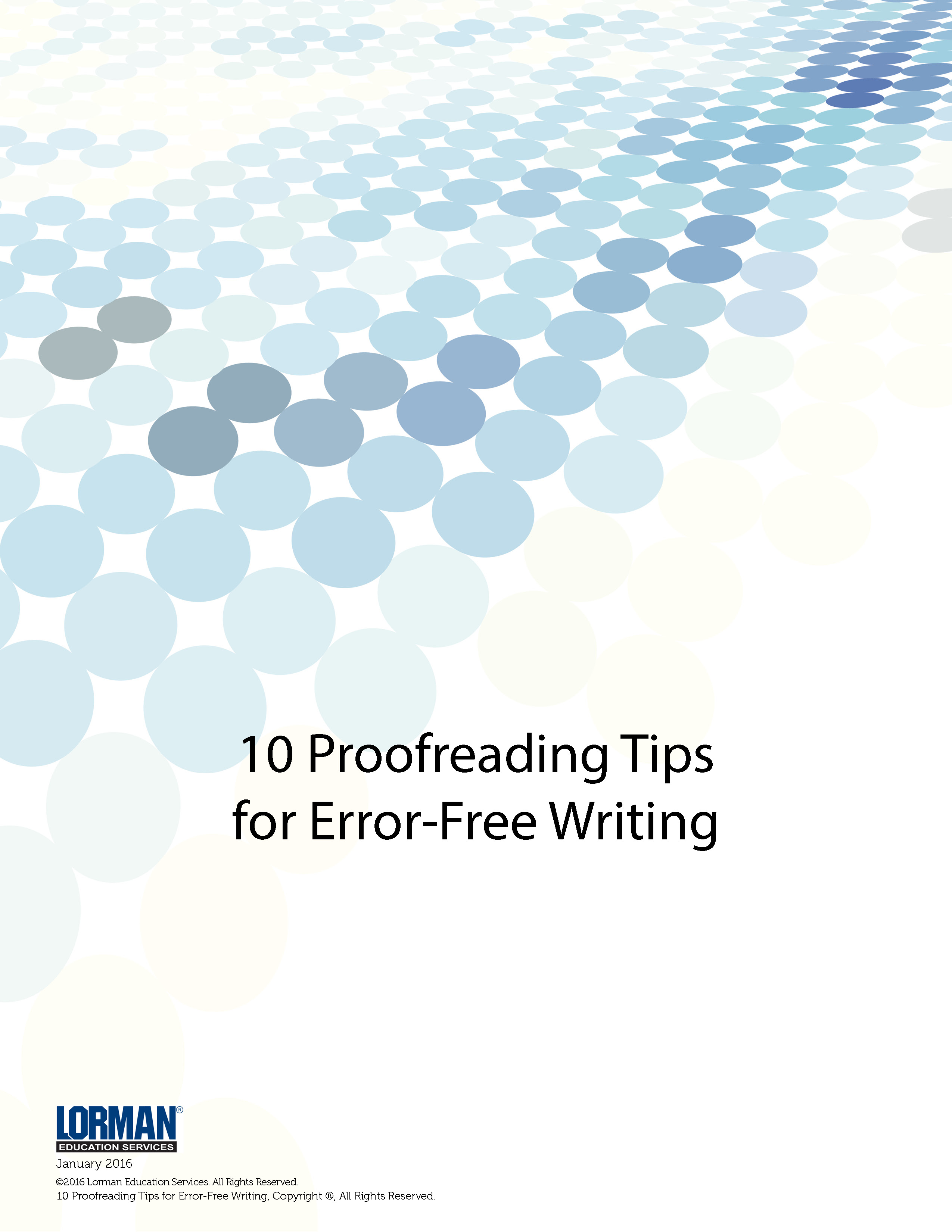 10 Proofreading Tips for Error-Free Writing